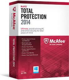 McAfee Total Protection 2014 (1 stan. / 1 rok) - Nowa licencja