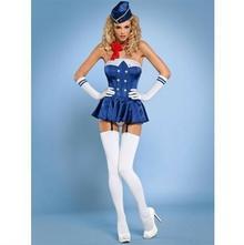 Obsessive Stewardess gorset kostium 6-częściowy L/XL