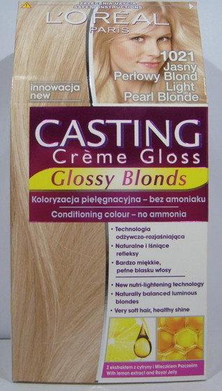 Loreal Casting Creme Gloss 1021 Jasny perłowy blond