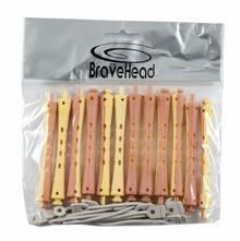 BRAVE HEAD Wałki Do trwałej ondulacji Żółto-Różowe 8mm
