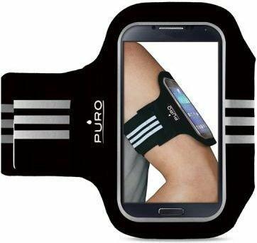 PURO Armband Uniwersalna sportowa opaska na ramię do smartfonów max 5 (czarny)