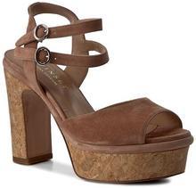 Twin Set Sandały Sandalo CS7TXN Nudo Scuro 0846S