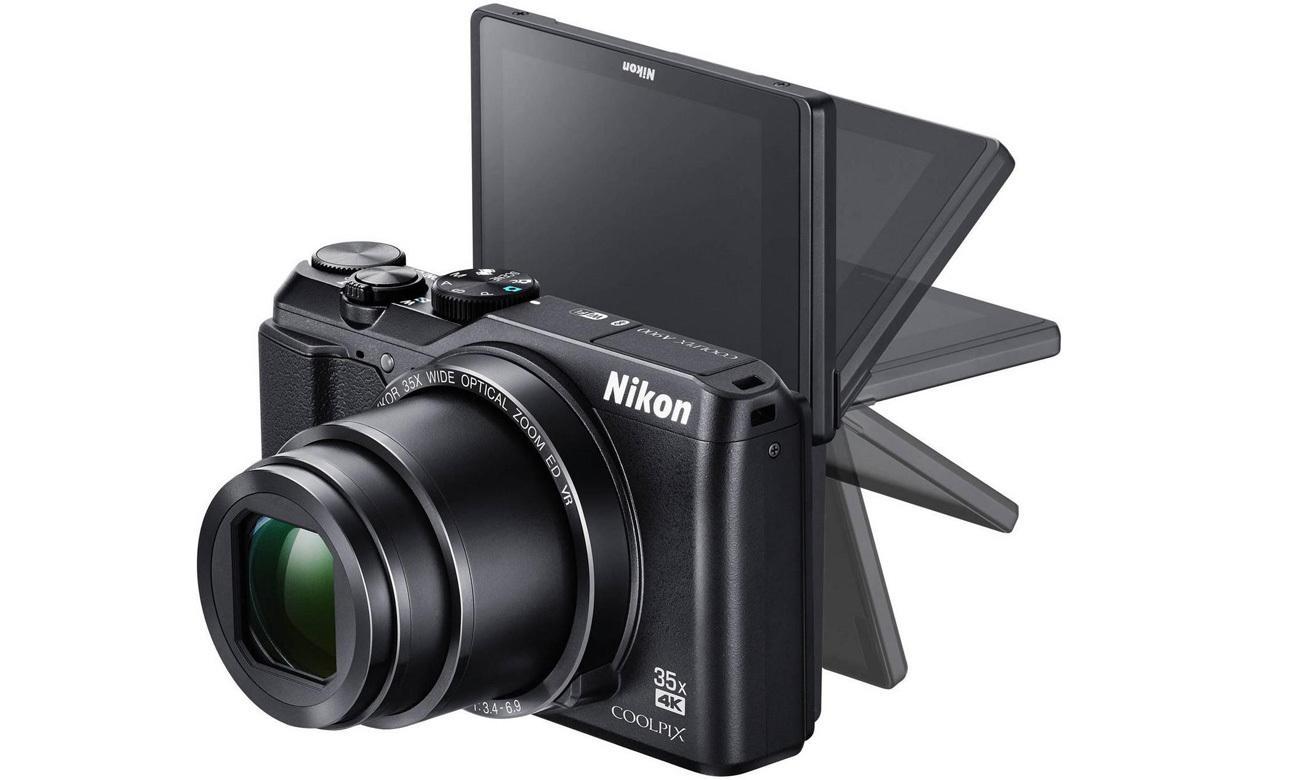 Aparat Nikon Coolpix A900 czarny ruchomy ekran