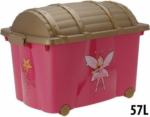 Skrzynia - pojemnik na zabawki dla dzieci KSIĘŻNICZKI