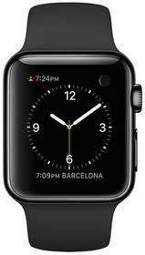 Apple Watch 38 mm Stal / Pasek sportowy / Czarny