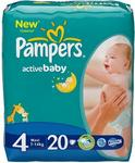 Pampers Active Baby, Maxi 4 (7-14 kg) pieluchy 99 szt.