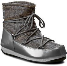 Moon Boot śniegowce W.E Low Lurex 24005600002 Grigio Argento materiał/-materiał, skóra ekologiczna/-skóra ekologiczna