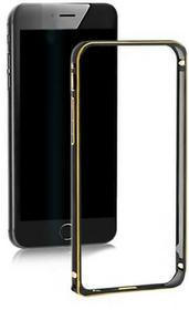 Qoltec Ramka ochronna na Samsung Galaxy S6 edge | czarna | alu. 51370
