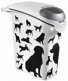 Curver Pet Life Pojemnik na karmę - białoczarny z psami 10kg 9365