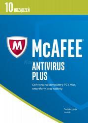 McAfee AntiVirus Plus 2017 BOX PL 10 device licencja na rok