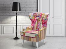 Beliani Fotel wypoczynkowy kolorowy do salonu tapicerowany - MOLDE
