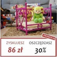 Grupa Lak System | Łóżka Metalowe Amelka - Łóżeczko dla lalek maskotek pupili