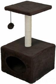 Domek dla kota z drapakiem i zabawką - brązowy 559000020-brÄ?zowy