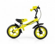 Milly Mally Rowerek biegowy Dragon z hamulcem żółty