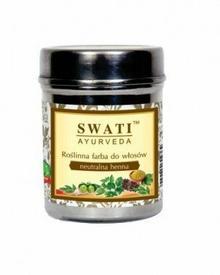 Swati Henna roślinna ciemny brąz 150g