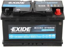Exide MICRO-HYBRID AGM EK800 - 80 Ah 800 A P+