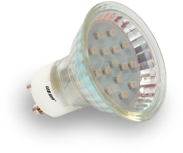 LED Line Żarówka LED SMD GU10 1W 230V zielona - zielona 242298
