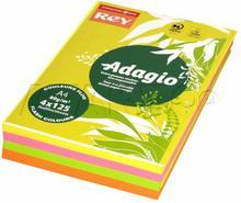 Adagio Papier kserograficzny A4 80g mix/fluo (500) IP5004