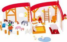Goki Domek dla lalek z farmą - zabawki drewniane - 51012