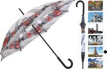 Parasol manualny CITY, Parasolka - 105 cm - paryż
