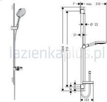 Hansgrohe Zestaw prysznicowy biały/chrom Raindance Select S 120 3jet/UnicaS Puro
