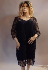 MaximoModa Elegancka sukienka z koronki gipiurowej XXL XXXL RO0045