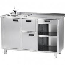 Stalgast Stół pod ekspres do kawy z ociekaczem i umywalką 486710