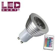 S-LED arówka LED GU10 3W RGB + pilot IR 16 kolorów 1328