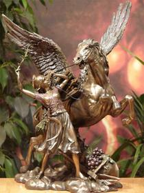 Veronese Przepiękna rzeźba dzikiego PEGAZA z kobietą