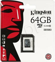 Kingston MicroSDXC class 10 ( bez adaptera ) 64GB