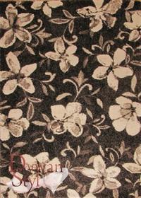 DywanStyl.pl Lounge Cosy Kwiaty brązowy 140x200 prostokąt