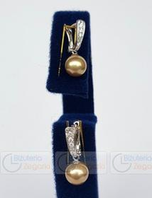 FLORENZO CASTELLO FC Kolczyki wiszące CASTELLO QC 3080821108 PM 8 kolor złoty 5773-uniw