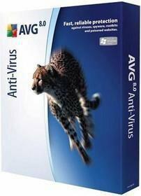 AVG AntiVirus 8.0 (10 stan. / 1 rok) - Nowa licencja