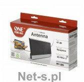 One For All OFA antena wewnętrzna wzmocnienie sygnału 47dB, UHF/VHF, DVB-T, DVB-