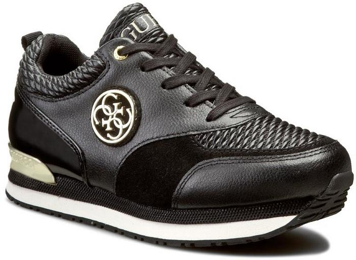 d186797380ff7 Guess Sneakersy Rimma FLRIM4 LEA12 BLACK skóra ekologiczna -skóra  ekologiczna