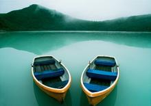 Łódki, Jezioro - Obraz, reprodukcja
