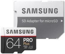 Samsung MicroSDXC Pro+ 64GB + adapter