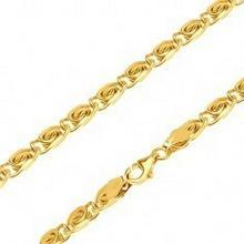 Biżuteria e-shop Łańcuszek z żółtego 14K złota - drobne elementy z węzełkiem, 445 mm