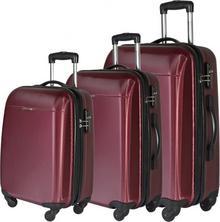 Puccini Zestaw walizek bordowych PC005 ABC