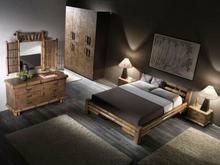 Bortoli Komplet sypialniany z bambusa Tabanan (Łóżko 180)