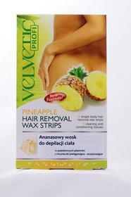 Velvetic Profi Ananasowy wosk do depilacji ciała 12 plastrów