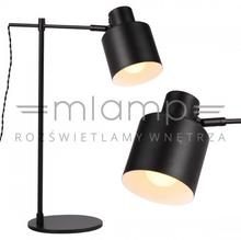 Maxlight Stojąca LAMPKA biurkowa BLACK T0025 gabinetowa LAMPA regulowana czarna