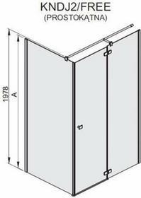 Sanplast KNDJ2/FREE 90x80 profil chrom/srebrny błyszczący szkło W0 600-260-0640-42-401