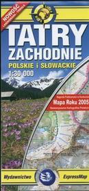 Tatry Zachodnie Słowackie i Polskie 1:30 000. Mapa turystyczna
