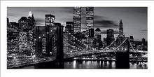 Brooklyn Bridge (BW) - New York - Obraz, reprodukcja
