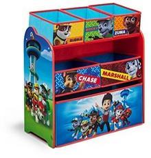 Delta 67943-251 drewniany organizer na zabawki, Psi Patrol, drewno i materiał, niebieski, wymiary: 92,7 x 49,5 x 100,2 cm TB84998PW