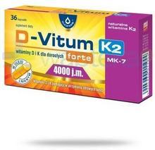 Oleofarm SP. Z O.O. D-Vitum Forte 4000j.m. K2 witamina 36 kapsułek 3288161