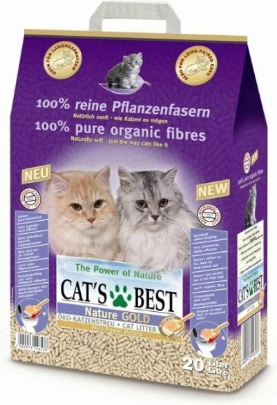 Cats Best JRS Nature Gold 20l- żwirek dla kotów długowłosych
