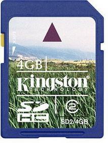 Kingston SDHC Class 6 4GB