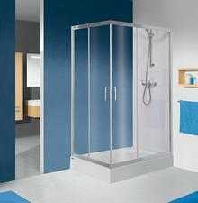 Sanplast KN/TX5b-80x90-S 80x90 profil srebrny błyszczący szkło W0 600-271-0190-38-401